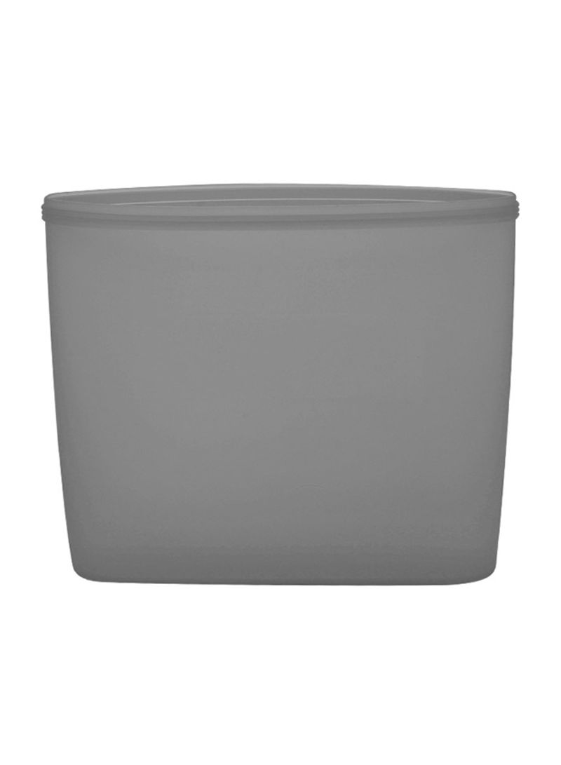 3-Piece Reusable Food Storage Container Set Grey 24 x 8 x 10.5 centimeter