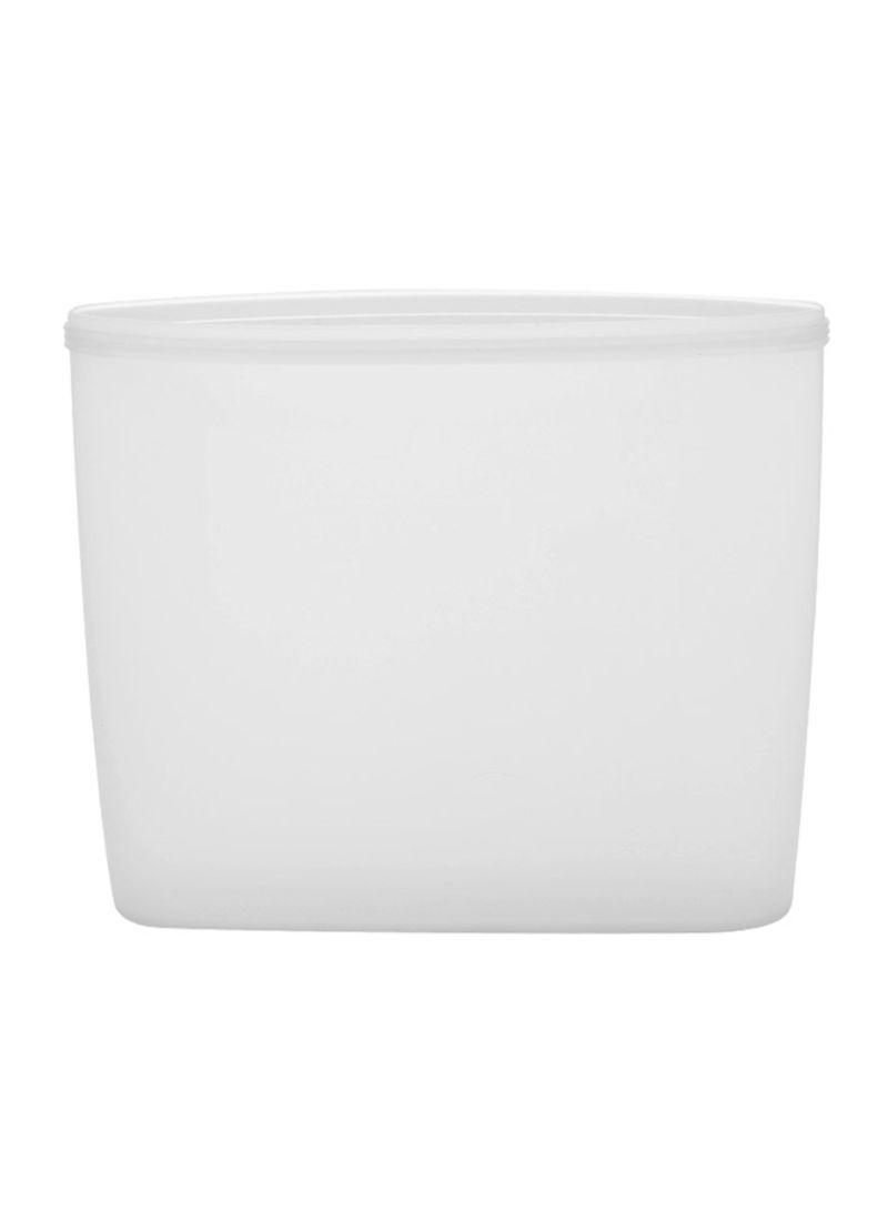 3-Piece Reusable Food Storage Container Set White 18 x 8.5 x 17 centimeter