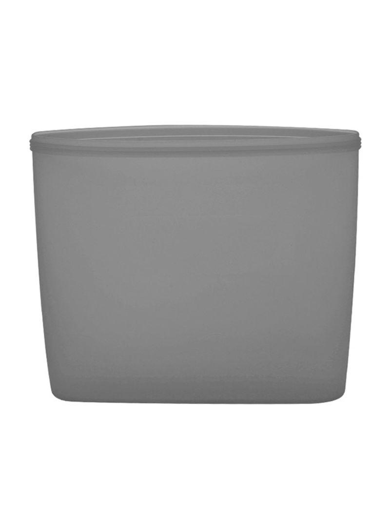 3-Piece Reusable Food Storage Container Set Grey 18 x 8.5 x 17 centimeter