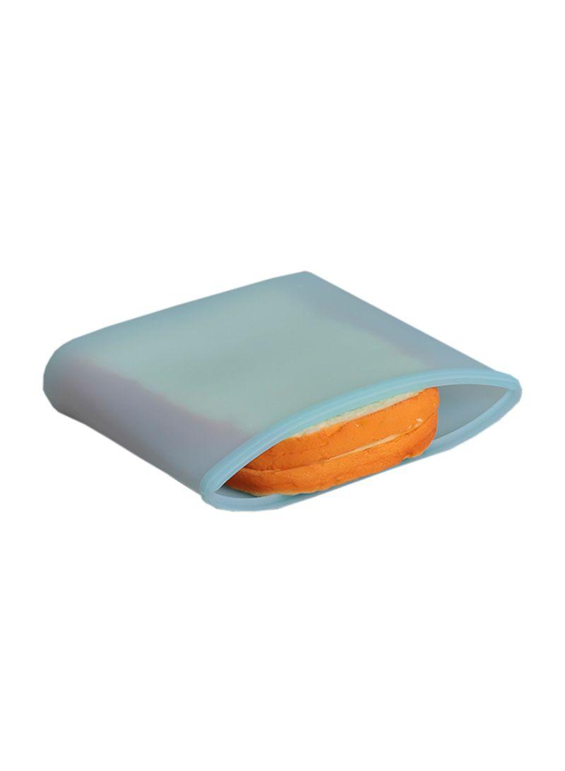 3-Piece Reusable Food Storage Container Set Blue 18 x 8.5 x 17 centimeter