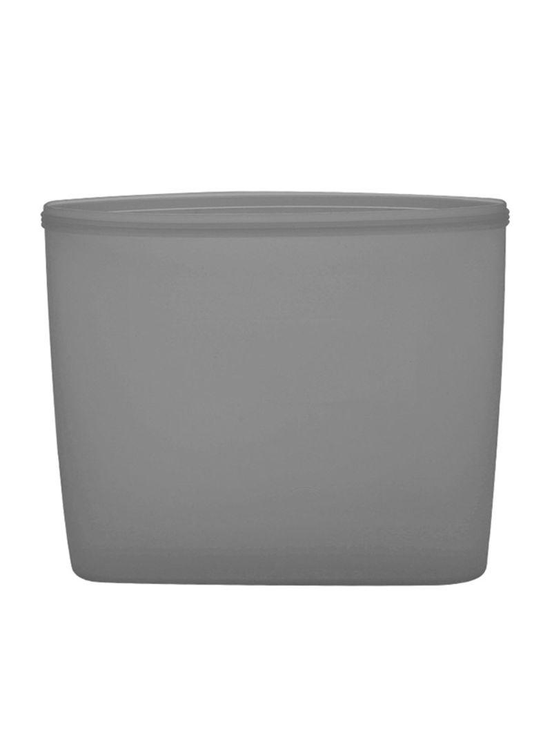 2-Piece Reusable Food Storage Container Set Grey 17 x 4 x 15 centimeter