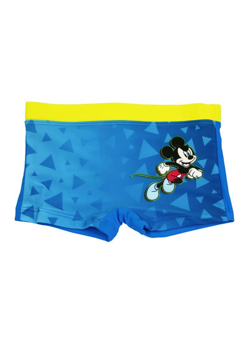 Mickey Mouse Printed Swimwear Shorts Yellow