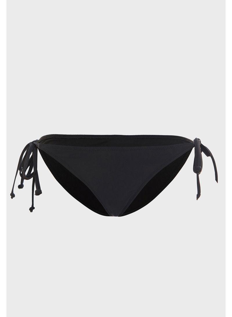 Side Tie Bikini Bottoms Black