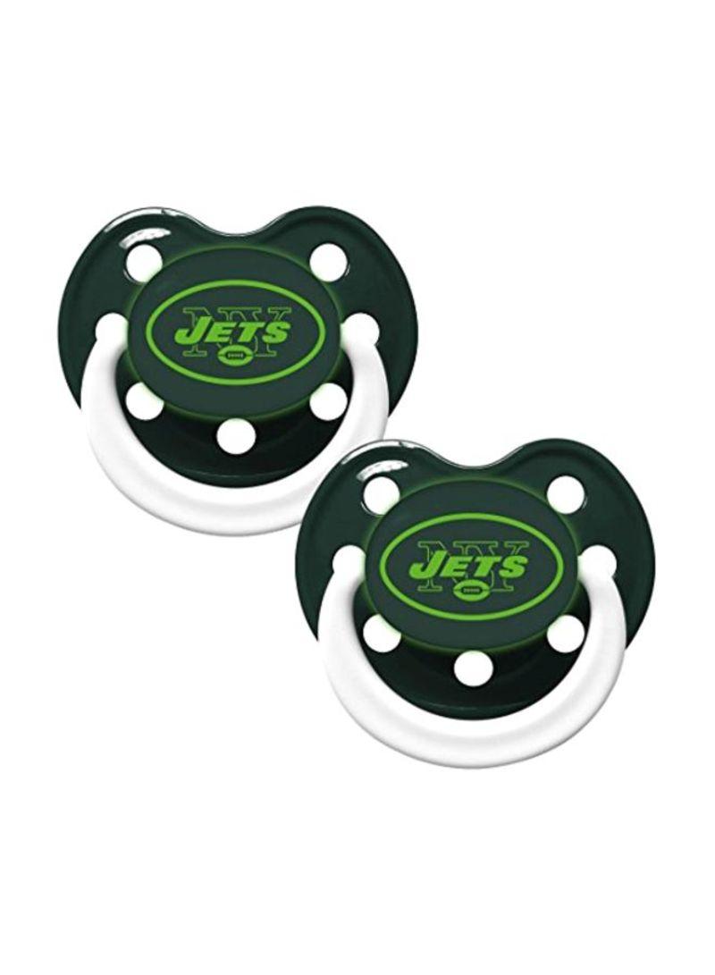 2-Piece Jets Glow In Dark Pacifiers (3+ Months)