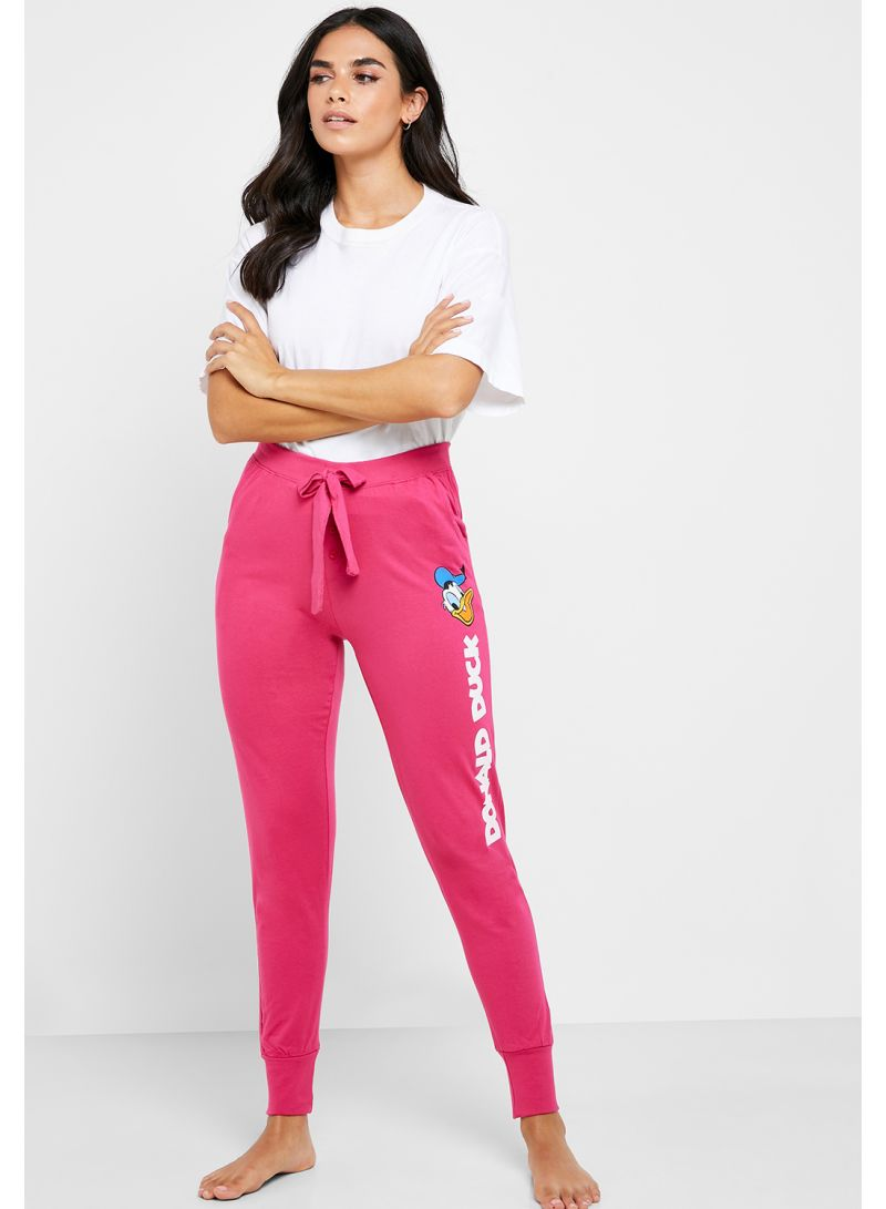 Donald Duck Pyjama Bottoms Pink