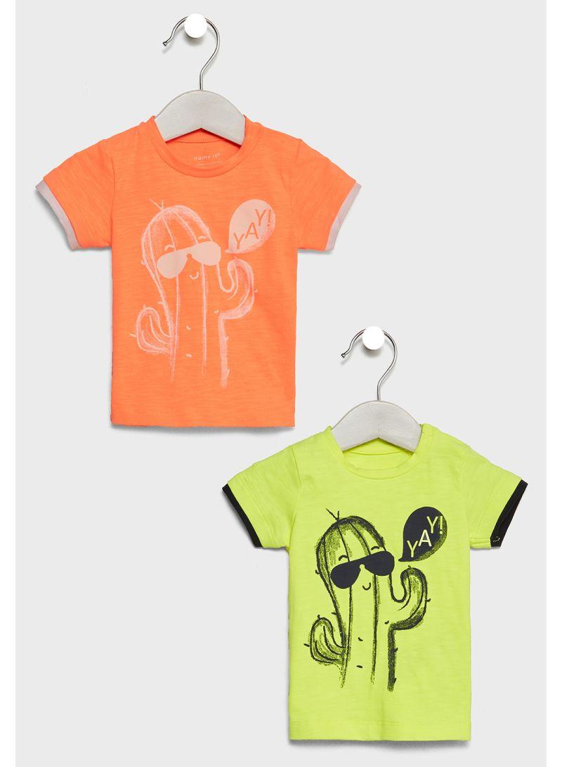 2-Piece Graphic T-Shirts Multicolour