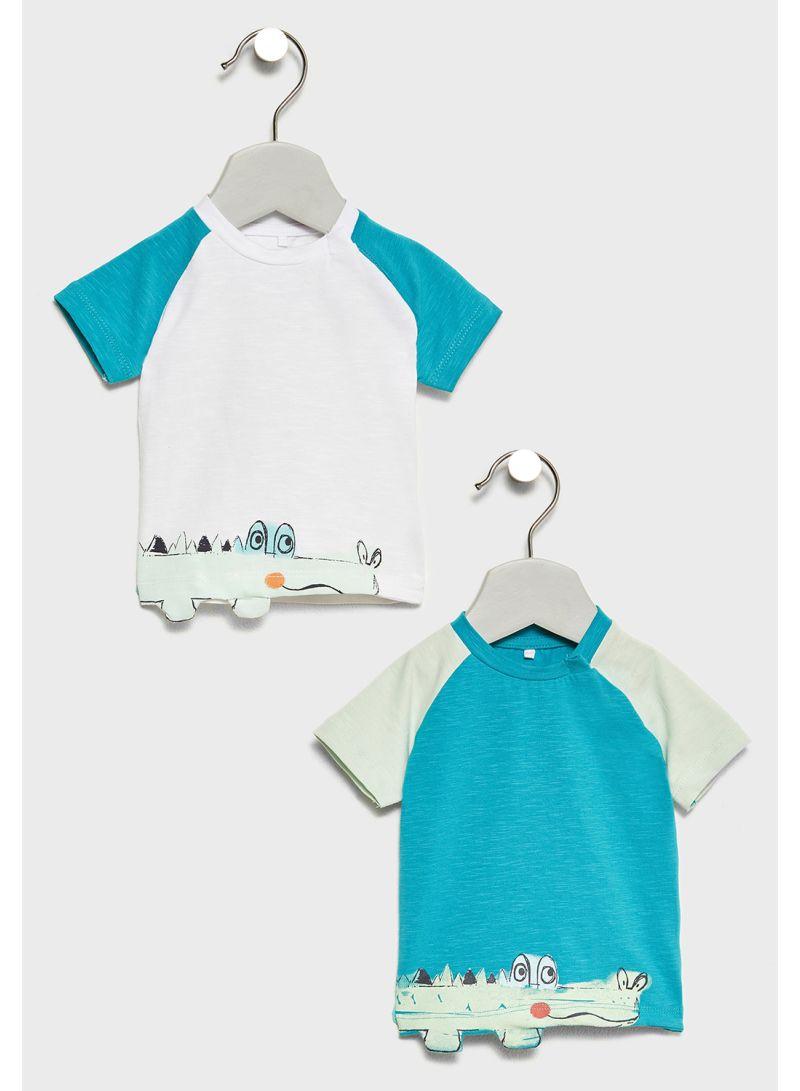 2-Piece Crocodile T-Shirts Multicolour