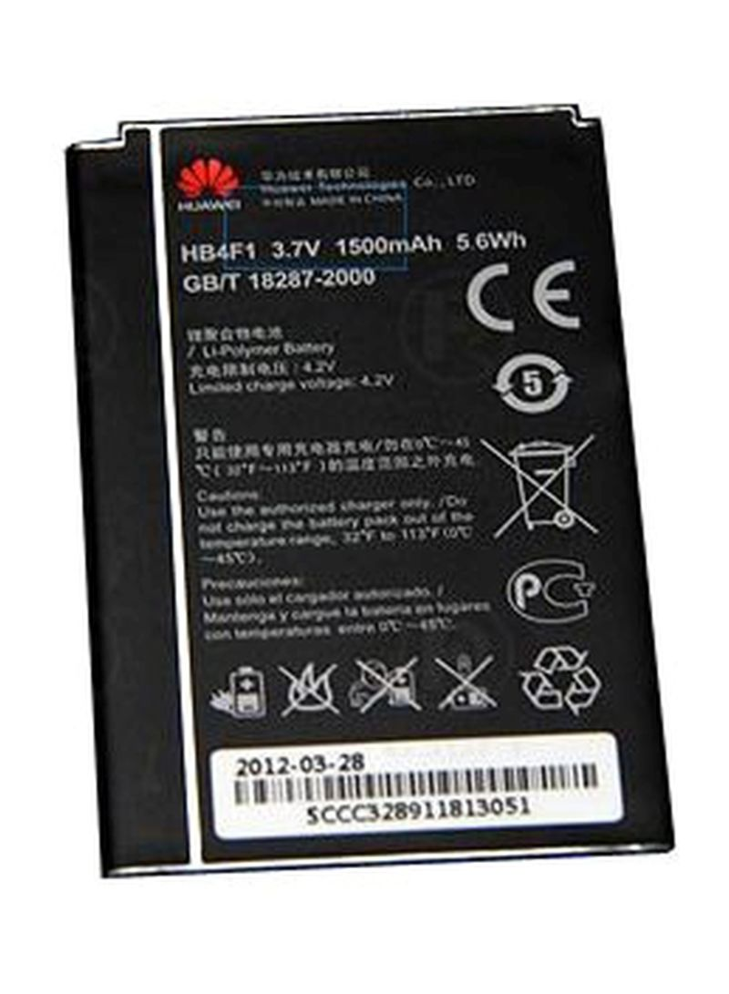 Replacement Battery For Huawei Router E586 Black 1500 mAh