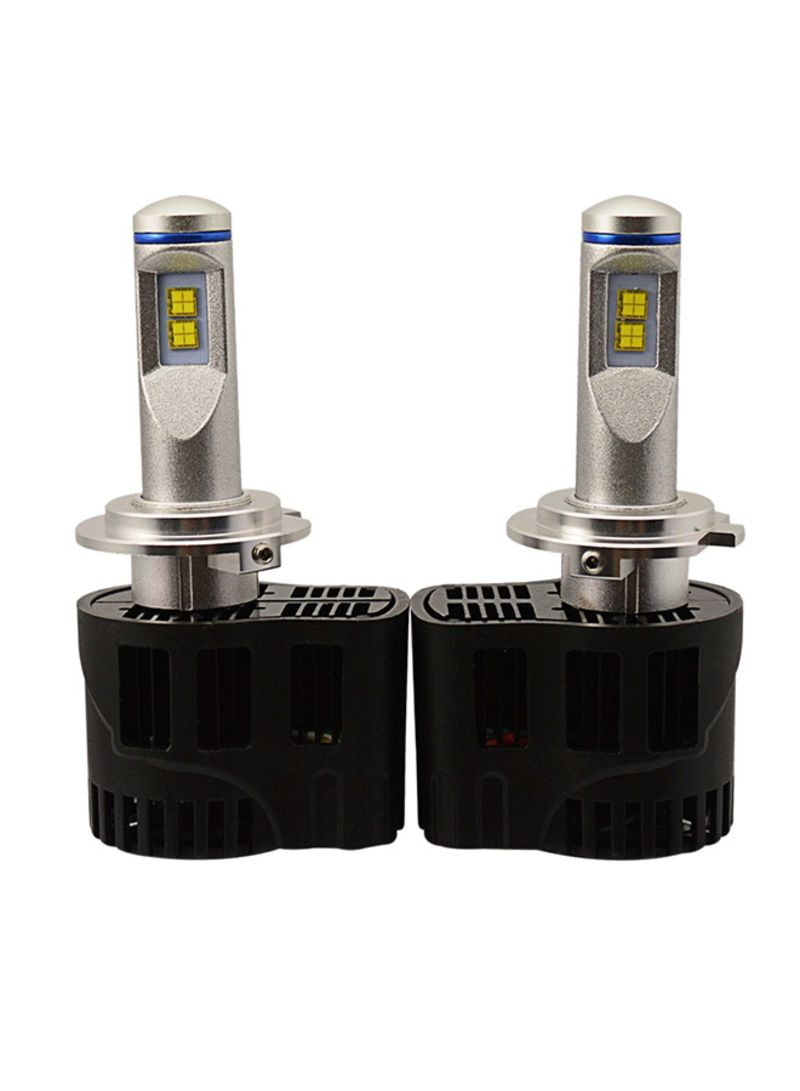 2-Piece ZY-H7JGDP6-55W High Power Lamp MZ 5200LM 6000K White Light Car LED Head Lamp With Driver DC 11-30V