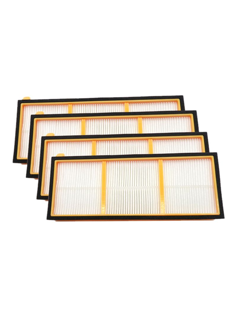 4-Piece HEPA Filters For Shark Vacuum Cleaner Set DW2168 Multicolor
