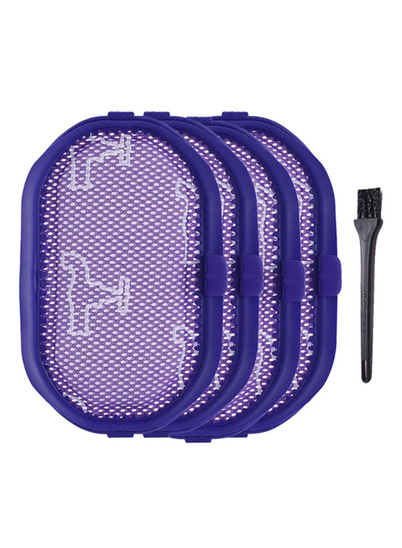 4-Piece Vacuum Cleaner Filters Brush DW2310 Purple