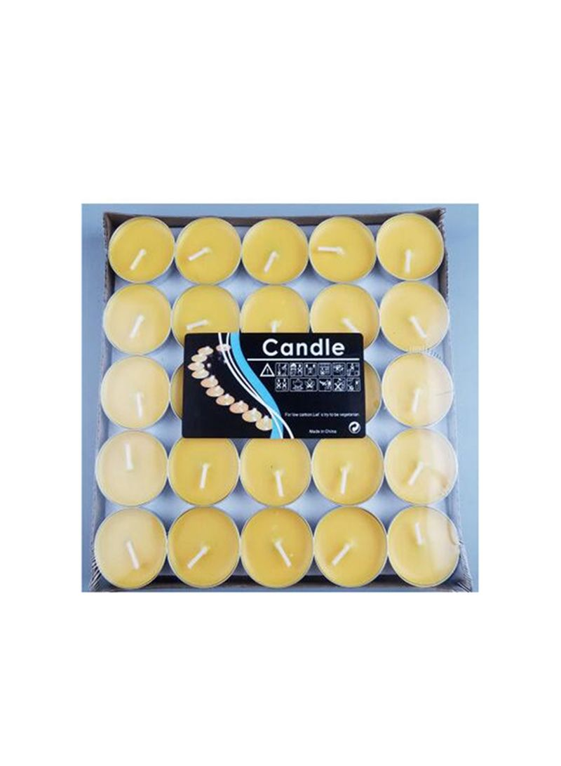 Unscented Tea Light Candles Yellow