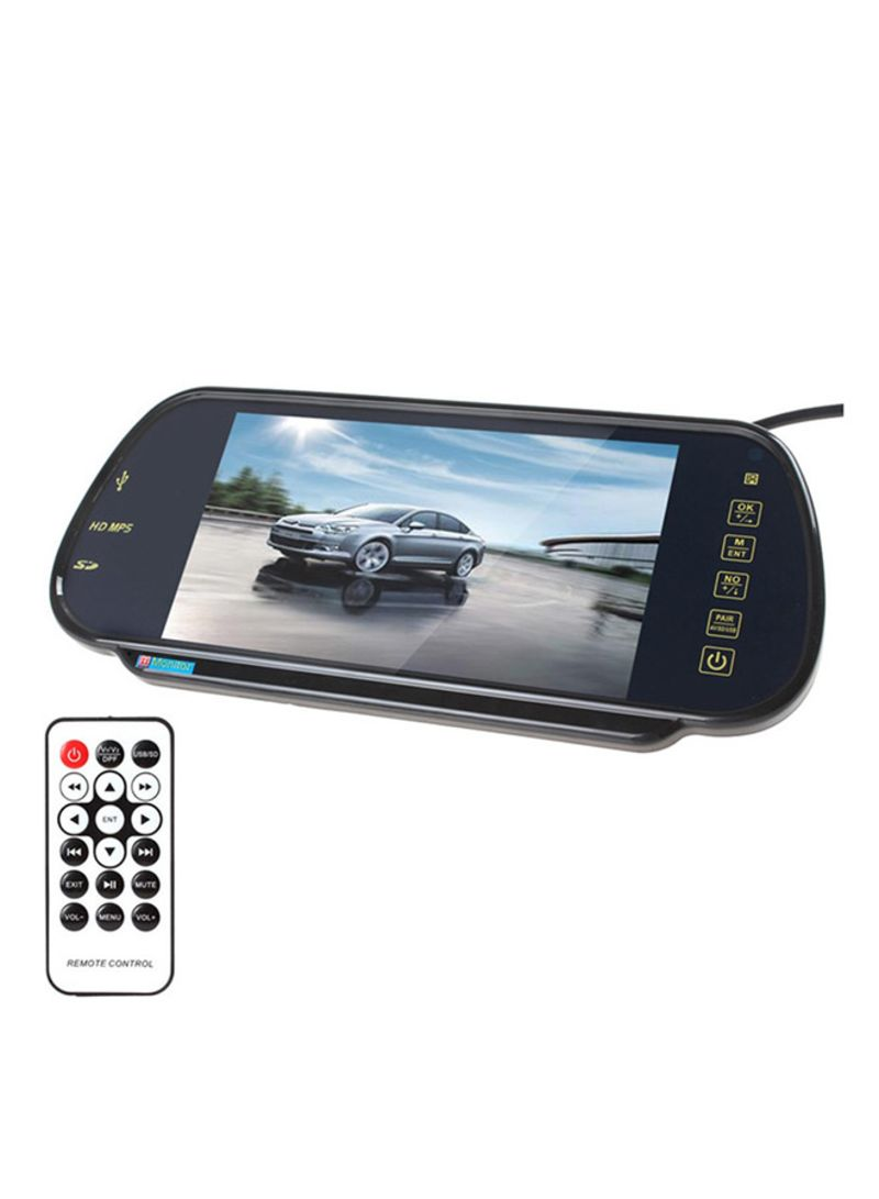 PZ-710 7.0 inch TFT LCD Car Rearview Mirror Monitor With Remote Control Support Bluetooth / MP5 Player