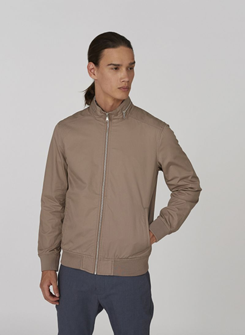 Outerwear High Neck Jacket Grey