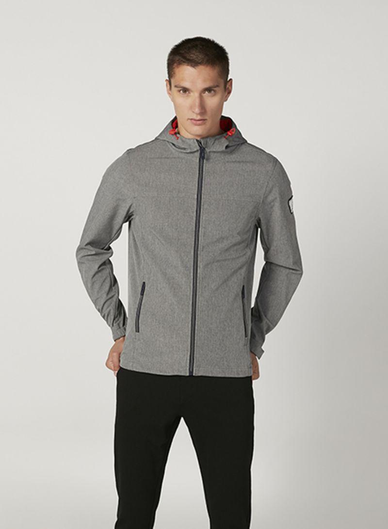 Outerwear Hooded Neck Warm Jacket Grey
