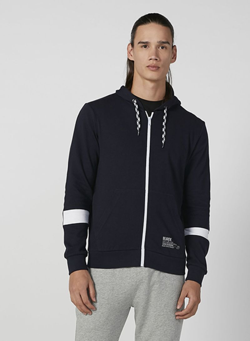 Outerwear Hooded Neck Jacket Blue