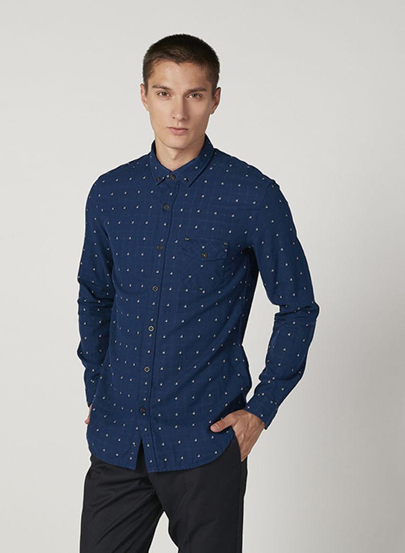 Pocket Detail Shirts Navy
