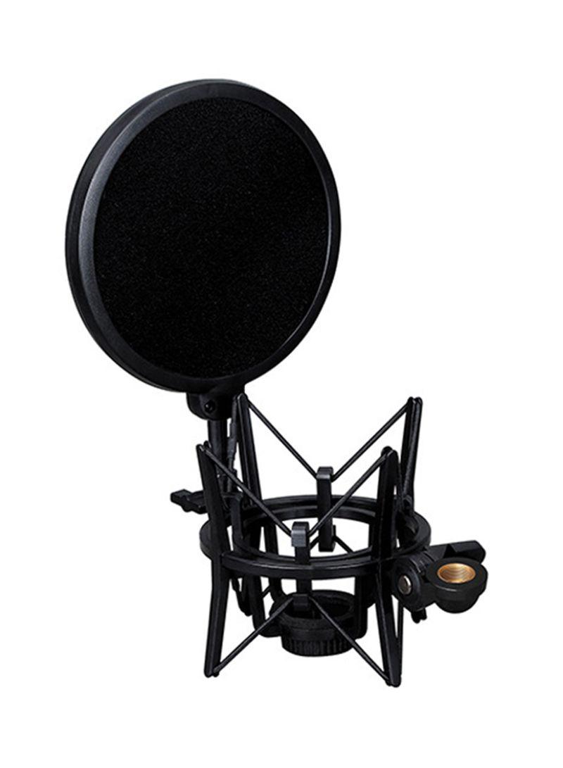 SH-100 Portable Shock Mount Mic Shock Holder for Microphones SH-100 Black