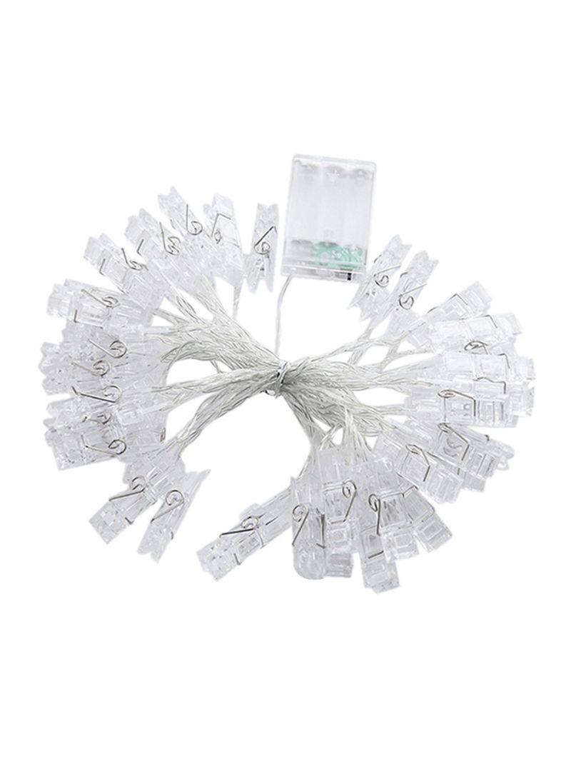 Batteries Powered  Decoration String Light White 1 meter