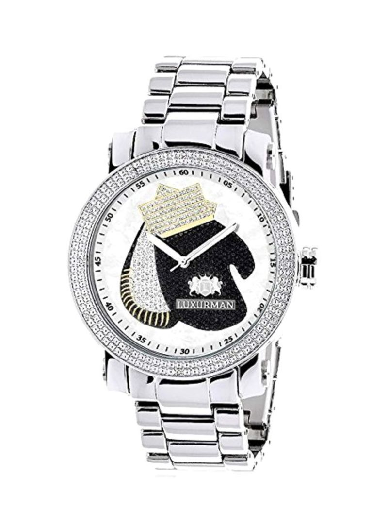Men's Boxing Gloves Diamond Studded Analog Watch 0639738920573