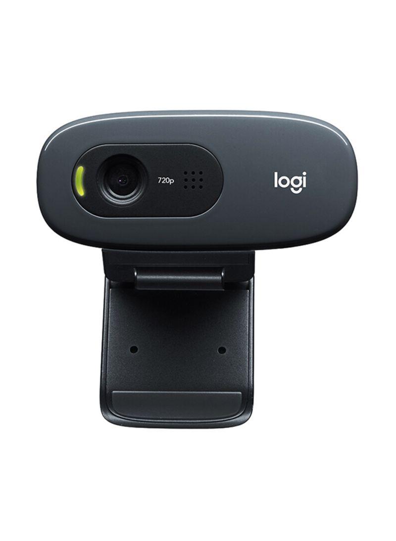 Plug And Play HD 720p Webcam Black