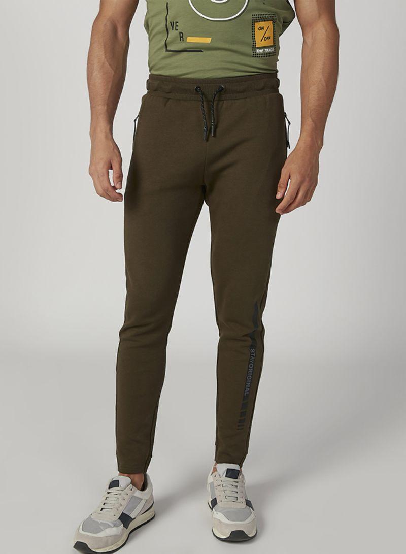Men Bottoms Regular Sweatpants Brown