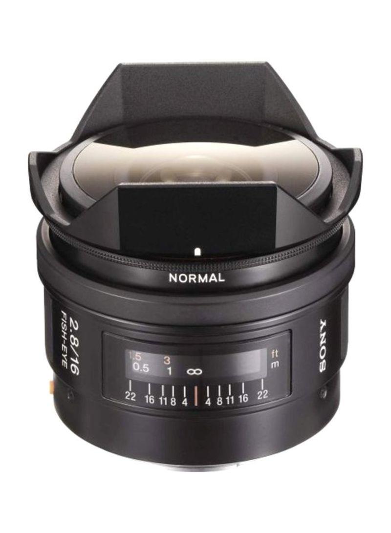 SAL-16F28 16mm f/2.8 Fisheye Lens For Sony Alpha Digital SLR Camera 16mm Black 16 millimeter