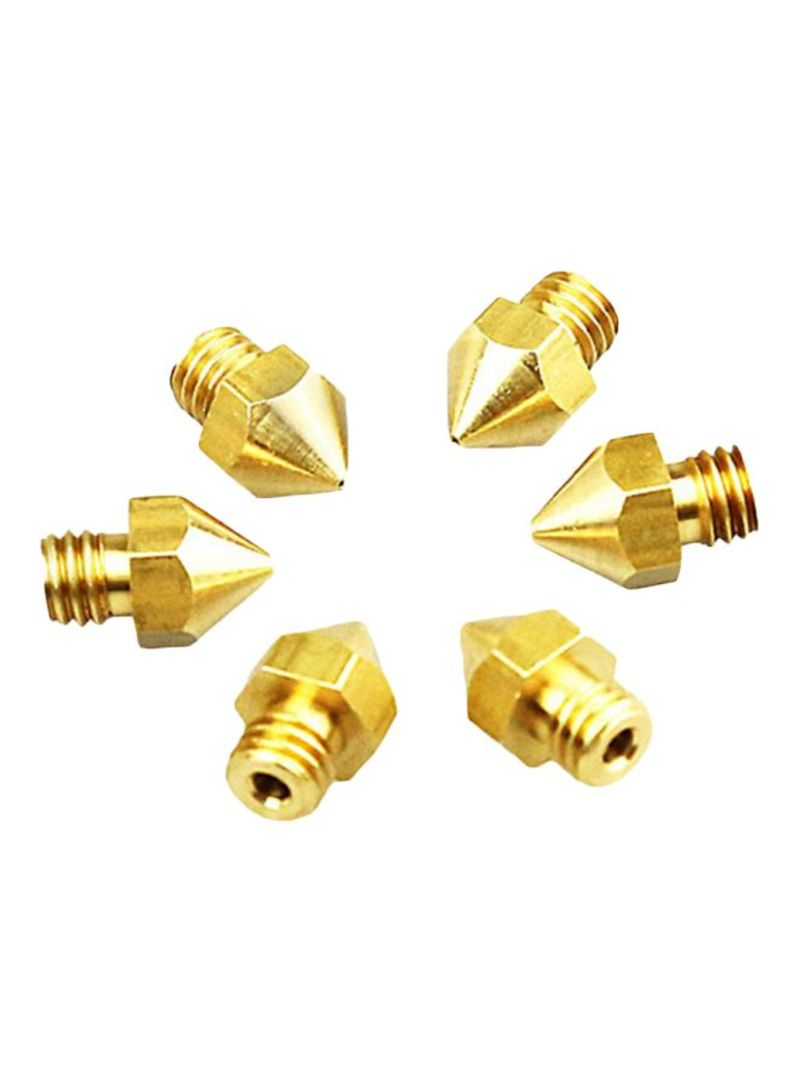 MK8 Extruder Threaded Nozzle For 3D Printers DB365401 Gold