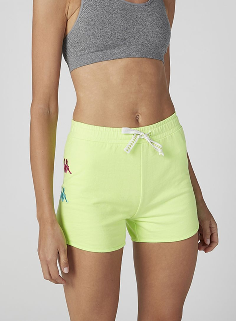 Mid-Rise Drawstring Shorts Green