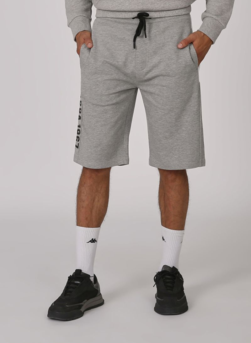 Athleisure Solid Design Shorts Grey