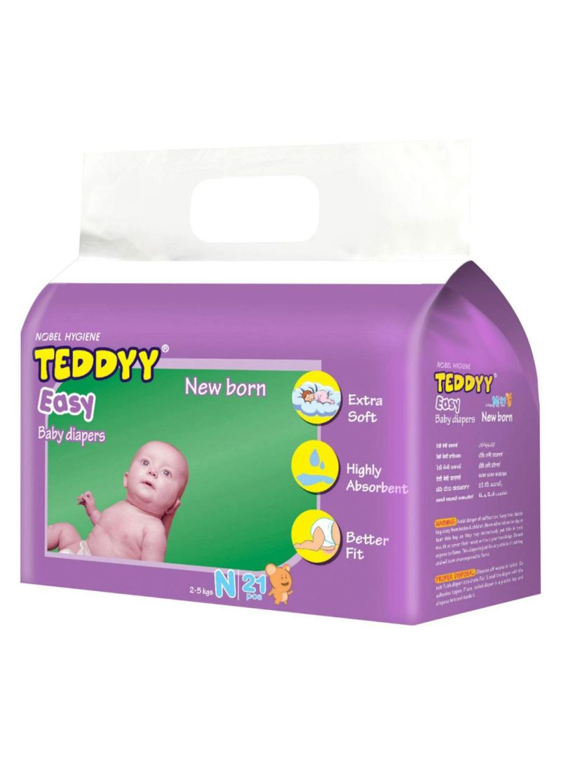 Easy Baby Diapers 2-5 kg, 21 Count