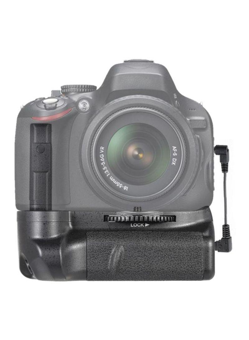 Vertical Battery Grip Holder For Nikon D5100/D5200/D5300/DSLR Camera Black