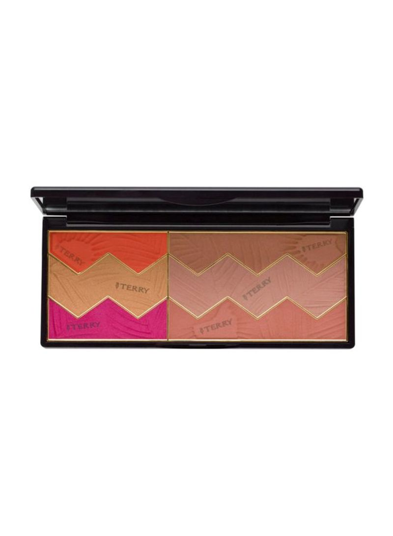 Sun Designer 6-Shades Makeup Palette Orange/Beige/Pink