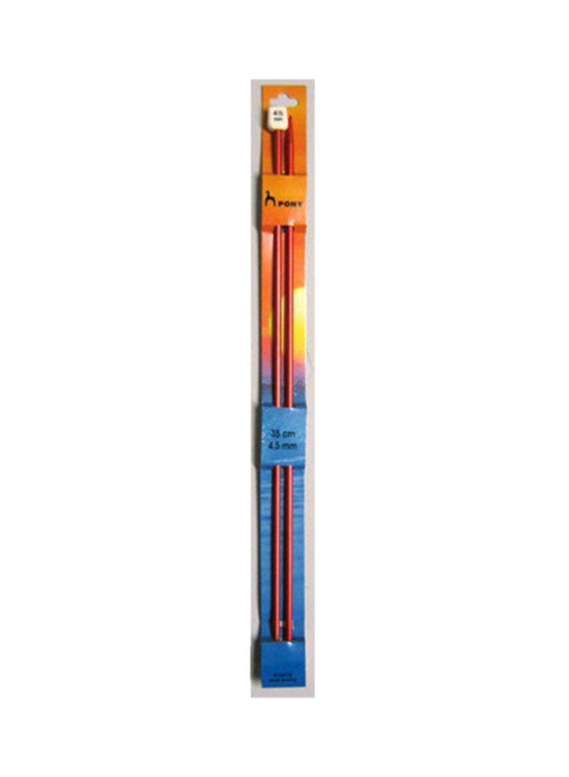 Pack Of 2 Spokes Knitting Needles Red 4.5 x 350 millimeter