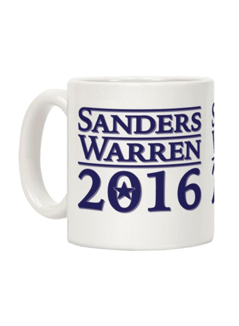 Sanders Warren 2016 Printed Ceramic Coffee Mug White