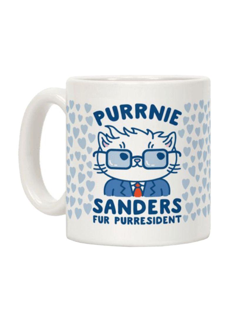 Purrnie Sanders Fur Purresident Printed Coffee Mug White