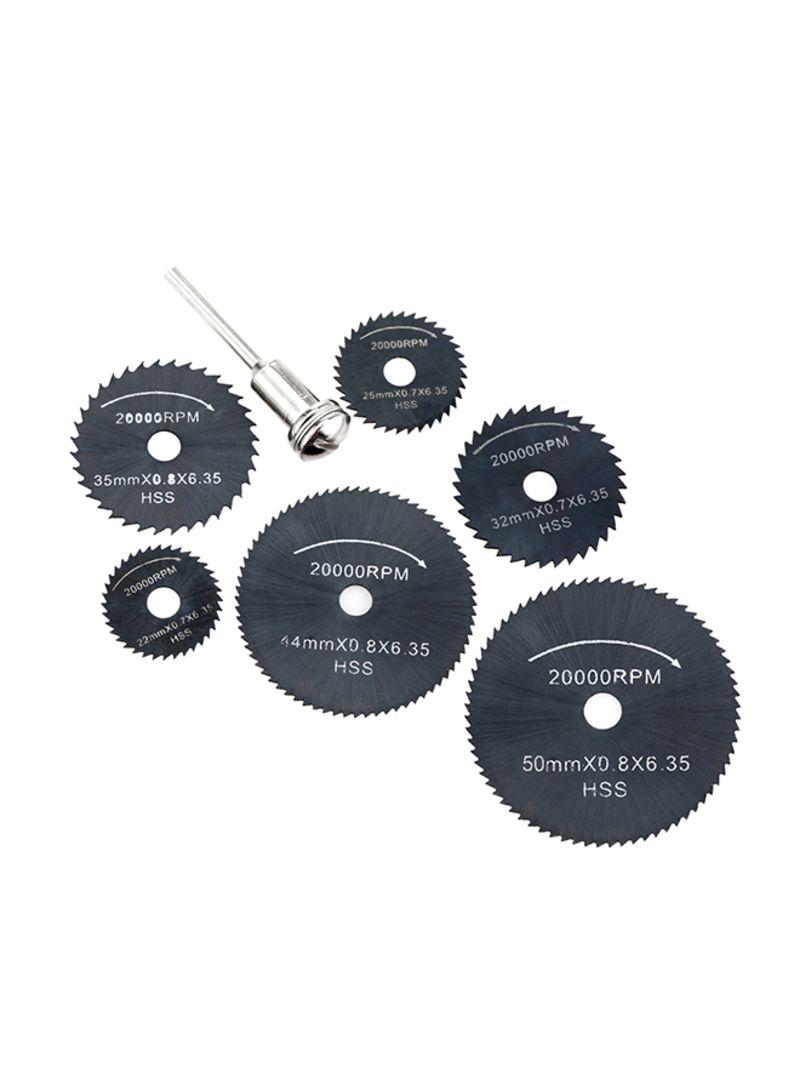 6-Piece Circular Rotary Blade Wheel Discs Tools Kit Black 12.00x1.50x6.50 centimeter