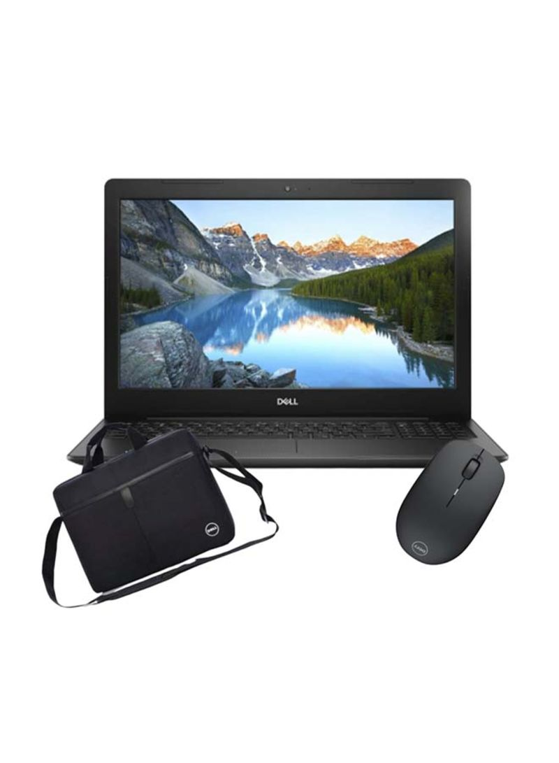 Inspiron 3593 Laptop With 15.6-Inch Display, Core i5-1035G1 Processor/12GB RAM/512GB SSD/Intel UHD 620 Graphics With Dell Essential Topload Bag And Dell Wireless Mouse Black