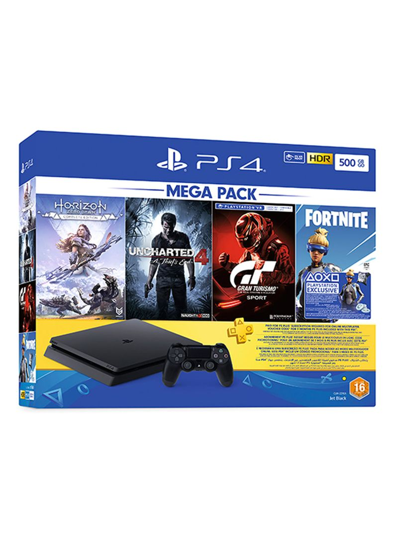 PlayStation 4 Slim 500GB Console With Four Games Mega Pack