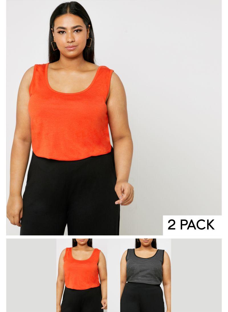 2-Pair Tunic Tops Set Multicolour