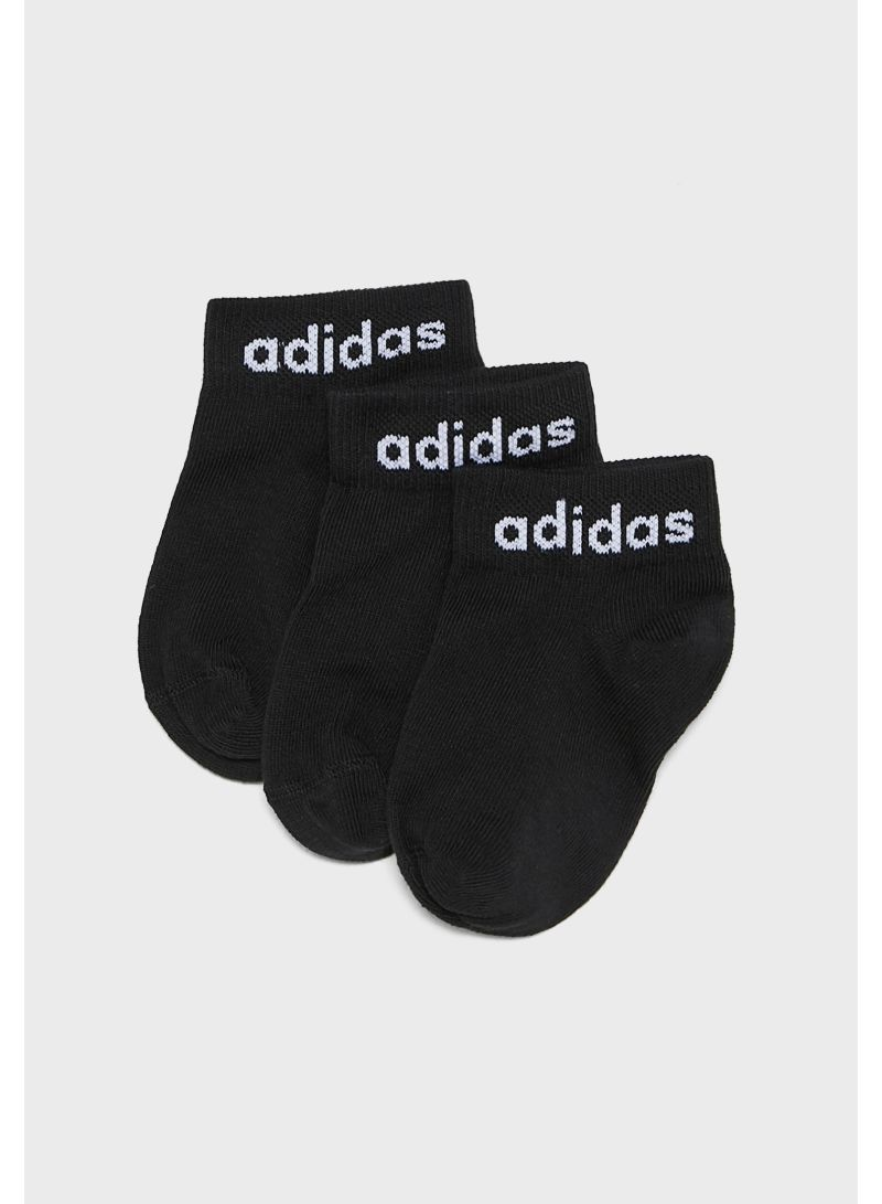 Pack Of 3 Ankle Socks Black
