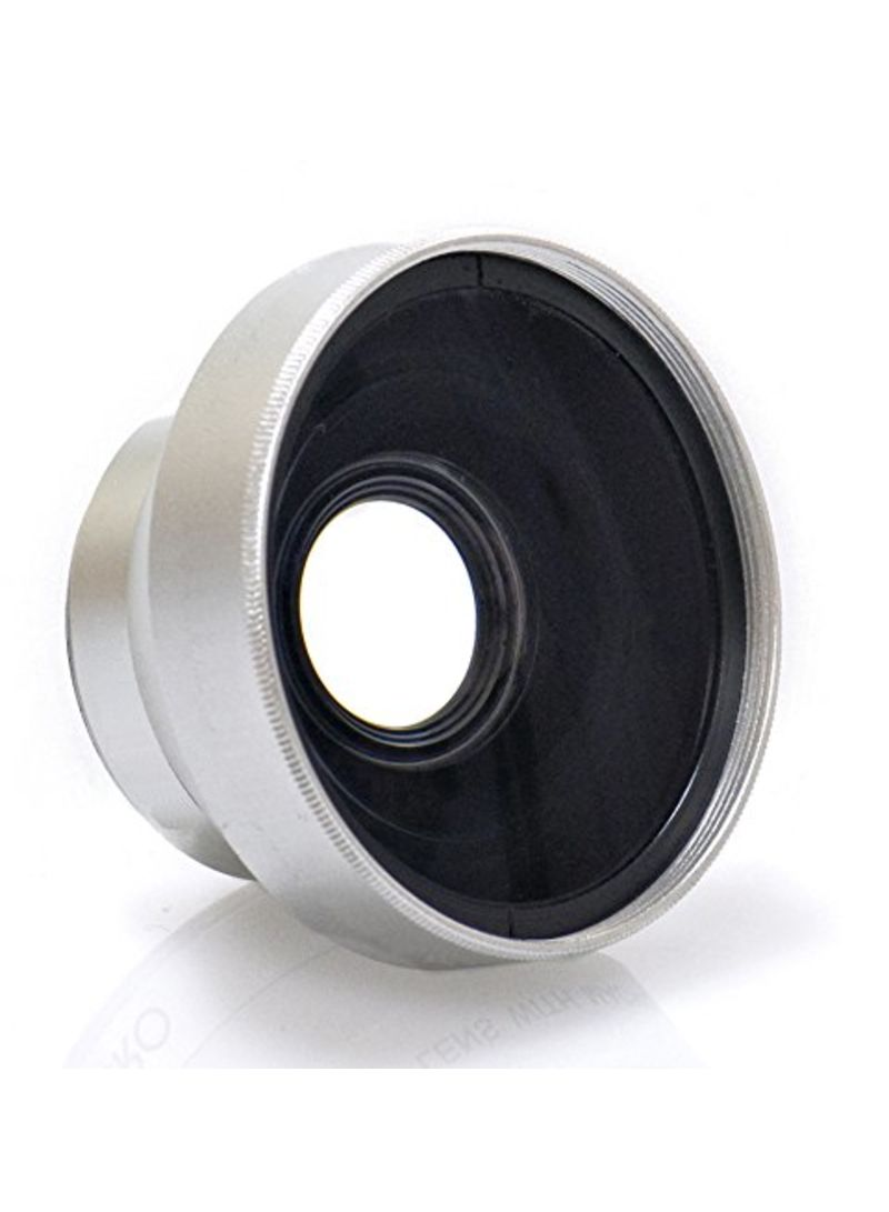 High Grade 37mm Wide Angle Conversion Lens For Sony Handycam HDR-UX7 Silver